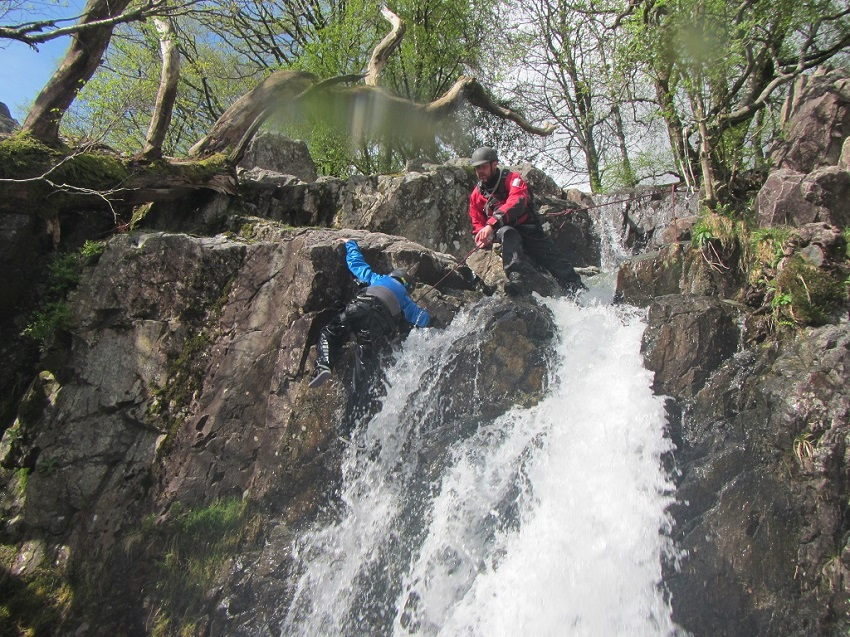 Stickle Ghyll Waterfall Climbing